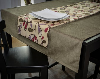 Green, Purple or Grey your choice of Tablecloth or Table Runner