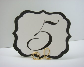 Wedding Table Numbers Elegant Vintage Label Design Wedding Reception Table Decor