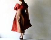 Linen Dress, Tunic Dress, Ethnic Dress, Women Dress, Asymmetrical Dress, OOAK Linen Tunic, Maxi Dress, Red Dress, Boho Dress, Women clothes