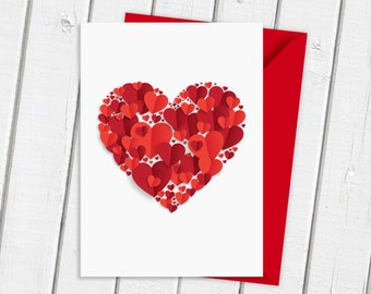 Beautiful Heart | Romantic Card | Valentines card | Anniversary Card | Birthday Card | Greetings Card | Card for Him | Card for Her