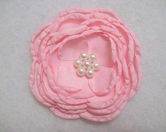 "4"" Satin Singed Flower Pink"