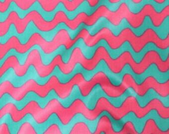 Laminated Waterproof Cotton Fabric Wave Stripe
