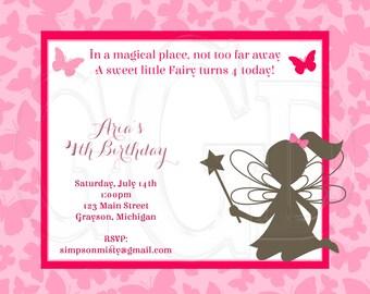 Fairy Invitation - Digital Files