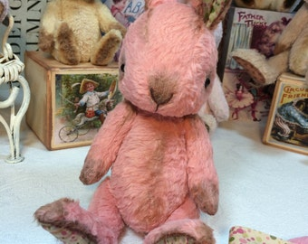 COMPLETE Kit - Very Pink PETITE LAPIN with the Sticky-Up Ears. Complete Kit for Artful Gathering 2015 - Session 2 students