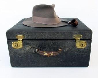 1930s Leather Handled Hardcase Suitcase