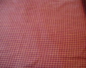 Fabric Woven Mini Windowpane Check Rust Tan