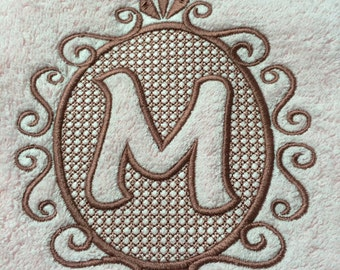 Embroidered Embossed Hand Towel