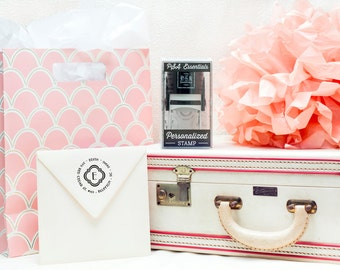 Personalized Stamp Gift Box by PSA Essentials - Hostess, Housewarming, Engagement, Bridal Shower, Wedding Gifts