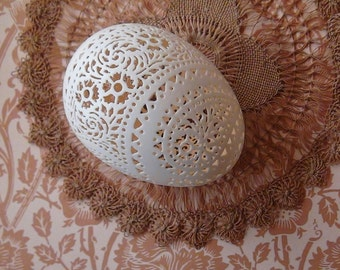 Victorian Lace Duck Egg: Diagonal Band Paisley Pattern