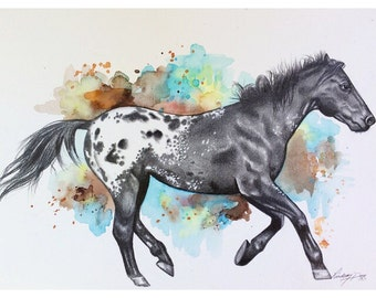 Custom Pet portraits - 11x14 graphite & watercolor