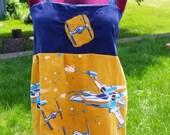 Vintage Star Wars fabric apron shirt