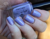 "Nail polish - ""Fergi and Jesus""  purple creme with holo and flakies"
