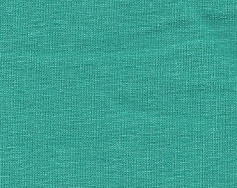 Solid Seafoam Green 4 Way Stretch 9oz Cotton Lycra Jersey Knit Fabric, 1 Yard