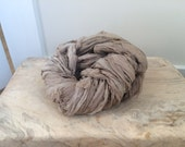 Greige ( warm beige gray) sari silk ribbon