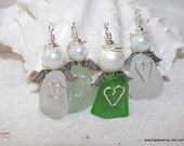 Lake Erie Beach Glass Angel - Sea Glass Angel - Beach Glass - Guardian Angel