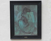Blue Nude by Picasso Mid-Century Framed Print on Board by Turner, Femme Nue II