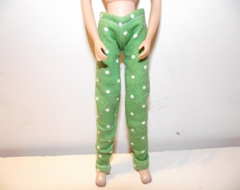 Green with white polka dot jeans pants for Blythe