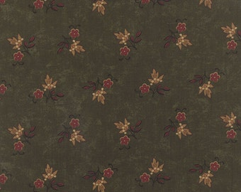 Heartfelt Winterberry Green Kansas Troubles Moda Quilt Fabric by the 1/2 yard