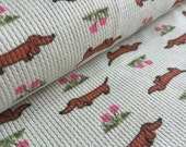 Skinny Dogs Sage Cotton Thermal Knit Fabric