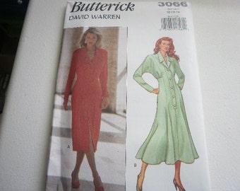 Pattern Ladies Dress 2 Styles Sizes 6-8-10 Vintage Butterick 3066