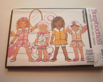 Pattern Vintage Toddler Girls Top Shorts Jumsuit Sizes 1-2-3 Busybodies by Butterick 6094