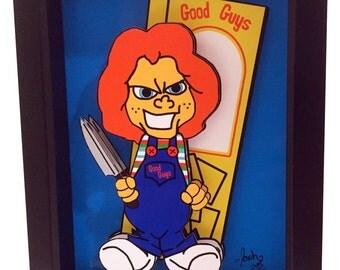Chucky Doll Child's Play Movie Poster Horror 3D Pop Artwork Print