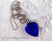 PERFUME HEART Bottle Pendant -  Deep Midnight Perfumes - artisan perfume - perfume pendant