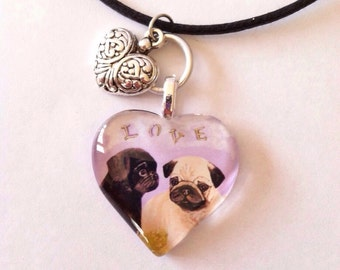PUG PUPPY LOVE Necklace
