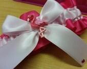 Flamingo Wedding Garter , beautiful hot pink and soft pink,