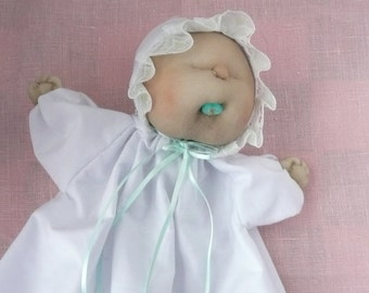 Handmade Soft Sculpture Baby Doll Puppet