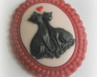 Cat Cameo Mold Silicone Fondant Soap Embed Polymer Clay Cat Love Resin Silicone Molds