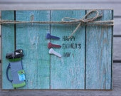 Father's Day card, Golf Themed card, Step-Dad Father's Day-Golfing card