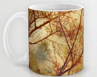 Art Coffee Cup Mug Gothic Red Trees fine art photography home decor