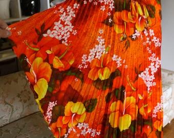 Hawaiian Pleated Floral Blouse