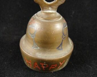 Brass Bell Small Happy Days