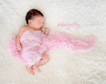 Pink Blanket for Girls, Pastel Photo Prop Baby Girl Blanket Girl Baby Blanket Prop