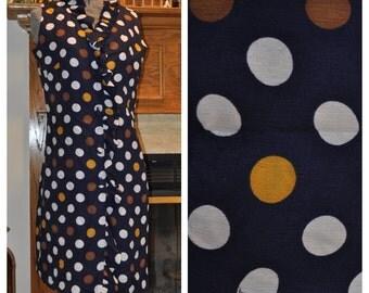 60's Mad Men Joan Polka Dot Franklin Simon Wiggle Dress