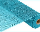 21 Inch Turquoise Turquoise Wide Foil Deco Mesh Roll RE104144, Deco Mesh Supplies