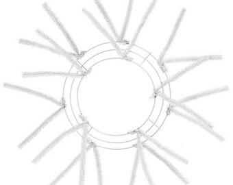 10 Inch White Deco Mesh Wreath XX167827, Poly Mesh Supplies