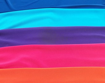 Simply Jersey - Soft and Slinky No Roll Poly Spandex Jersey Fabric - Oodles of Color Choices