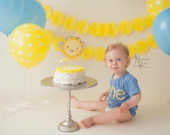 SUNSHINE, SUN cake topper - You are my sunshine, baby shower, first birthday,