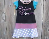 Prima Donna First Lady of the Stage Upcycled Dress Size 3/ 4