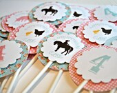 Shabby Chic Farm Cupcake Toppers