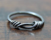 Viking Knotted Ring, Hand wrought solid Sterling silver ring, Size 6 (US), Size L 1/2 (UK), size 16.5 (European)