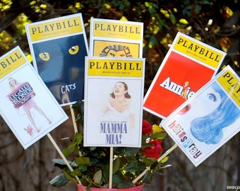 Broadway Party Playbill for Centerpiece