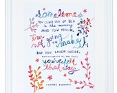 Bukowski Sometimes You Get Out of Bed Art Print