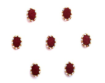 Bindi Self Adhesive Indian Dots Traditional Crystal Red Oval