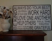 Family Rules Sign, Custom Family Rules Sign