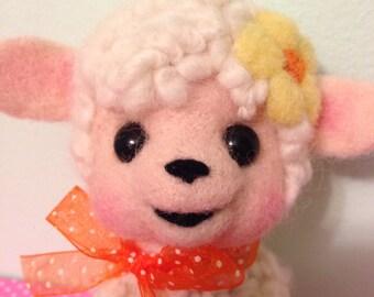 Lamb with Yellow Daisy