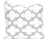 Throw Pillow Covers, Taupe Pillow Cover, Tan Pillow Covers, Decorative Pillow, One Fynn Premier Prints Ecru Decorative Pillow, Tan Cushions